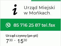 Przekierowanie na Informacje o Urżędzie Miejskim w Mońkach